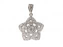 Diamond Star Charm in Platinum