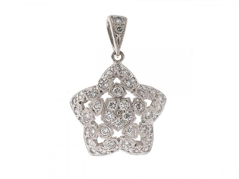 Video of Diamond Star Charm in Platinum