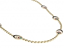 Bulgari Multi-Stone Chain Necklace in 18K