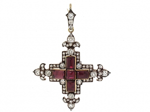 Antique Victorian Diamond Cross Pendant, by Garrard