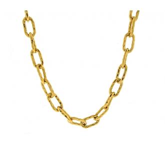 Jean Mahie 'Cadene' Link Necklace in 22K Gold