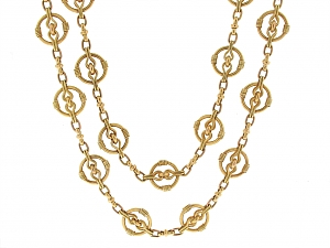 Antique Victorian Guard Chain in 18K
