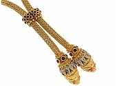 Ilias Lalaounis Lion's Head Lariat Necklace in 18K
