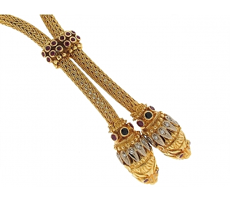 Ilias Lalaounis Lion's Head Lariat Necklace in 18K