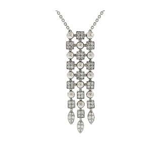 Bulgari 'Lucea' Diamond Pendant in 18K White Gold