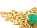 Neiman Marcus Emerald and Diamond Pendant in 22K