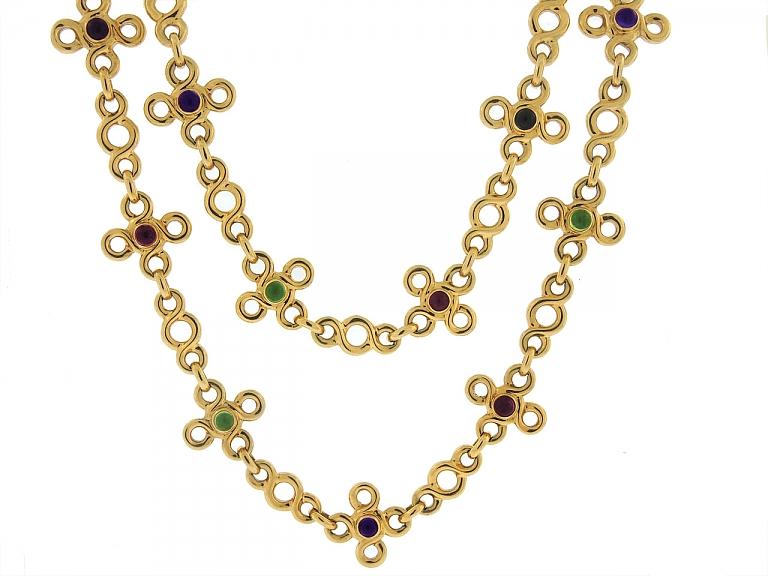 Video of Chanel Multi-Gemstone Necklace in 18K