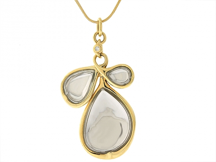 H.Stern 'Sutras' Pendant Rock Crystal Necklace in 18K