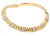 Bulgari 'Spiga' Diamond Necklace in 18K