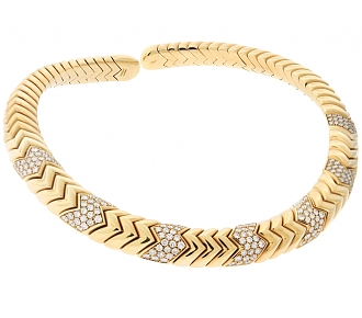 Bulgari 'Spiga' Diamond Necklace in 18K