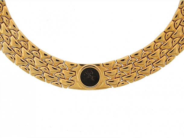 Bulgari Coin Choker Necklace in 18K