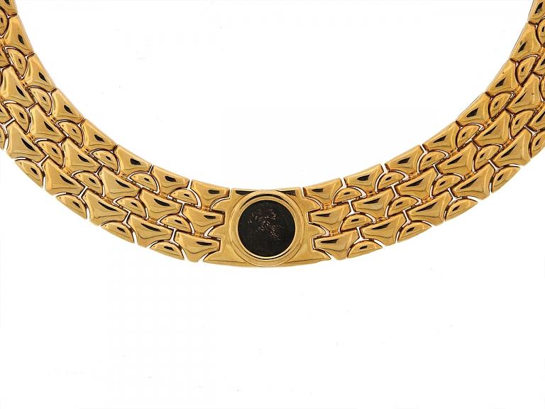 Video of Bulgari Coin Choker Necklace in 18K