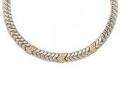 Rare Bulgari 'Spiga' Diamond Necklace in 18K