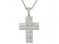Cartier 'Cross Decor' Diamond Pendant in 18K