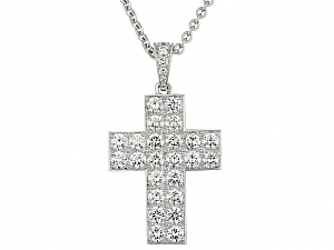 Cartier 'Cross Decor' Diamond Pendant in 18K