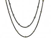 Yellow Sapphire Necklace in 18K Blackened Gold