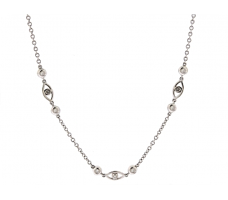 Diamond Necklace in 18K White Gold