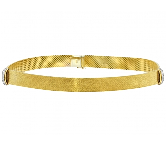 Gold Choker with Diamonds in 14K Gold
