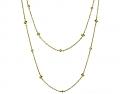 Diamond Station Necklace in 18K Gold