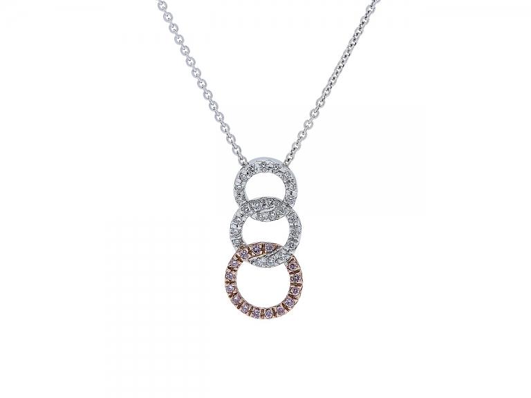 Video of Alan Friedman Pavé Diamond Pendant in 18K White and Rose Gold