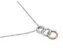 Alan Friedman Pavé Diamond Pendant in 18K White and Rose Gold