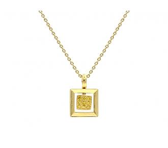 Alan Friedman Yellow Diamond Pendant in 18K Gold