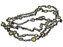 Alan Friedman Yellow Diamond and Blackened 18K Gold Necklace