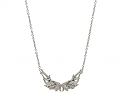 Henri J. Sillam Diamond Wings Necklace in 18K White Gold