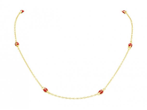 Aaron Basha Ladybug Chain in 18K Gold