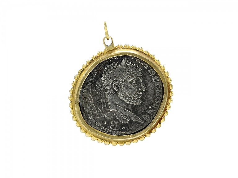 Video of Ancient Coin Pendant in 14K Gold