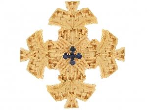 Vintage Tiffany & Co. Sapphire Cross Pendant/Brooch in 18K Gold