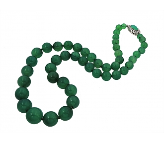 Chrysoprase Bead Necklace
