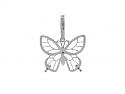 Rhonda Faber Green 'Lacy Butterfly' Butterfly Pendant in 18K White Gold