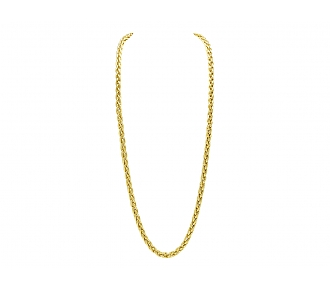 Wheat Link Necklace in 18K Gold