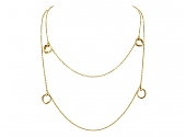 Cartier 'Trinity De Cartier' Station Necklace in 18K Gold