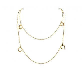 Cartier 'Trinity De Cartier' Station Necklace in 18K Gold
