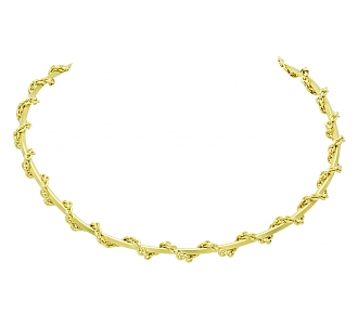 Gold Choker Chain Necklace in 14K Gold