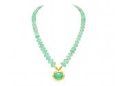 Darlene de Sedle Emerald Bead Necklace in 22K Gold