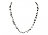 Antique Georgian Foiled Black Dot Paste Rivière Necklace in Silver and 14K
