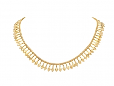 Antique Victorian Etruscan Revival Necklace in 18K Gold