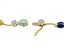 Aaron Basha Ladybug and Diamond Necklace in 18K Gold