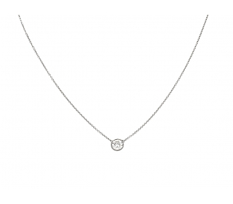 Beladora 'Bespoke' Diamond Solitaire Pendant, 0.70 carats, in 18K White Gold