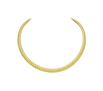 Braided Choker Necklace in 18K Gold