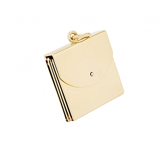 Book Form Locket in 14K Yellow Gold