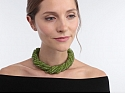 Buccellati Peridot Bead Necklace with Diamond and 18K Gold Clasp