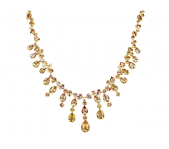 H.Stern Imperial Topaz and Diamond Necklace in 18K