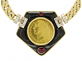 Bulgari Antique Coin Necklace in 18K Gold