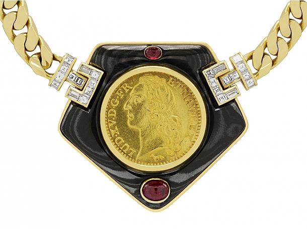 Bulgari Antique Coin Necklace in 18K Gold
