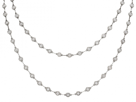 Rare Tiffany & Co. Elsa Peretti 'Diamonds by the Yard' Necklace in Silver