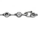 Rare Tiffany & Co. Elsa Peretti 'Diamonds by the Yard' Necklace in Silver
